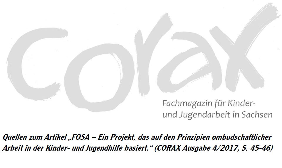 "Quellen zum Artikel ""FOSA"" CORAX 4/2017"
